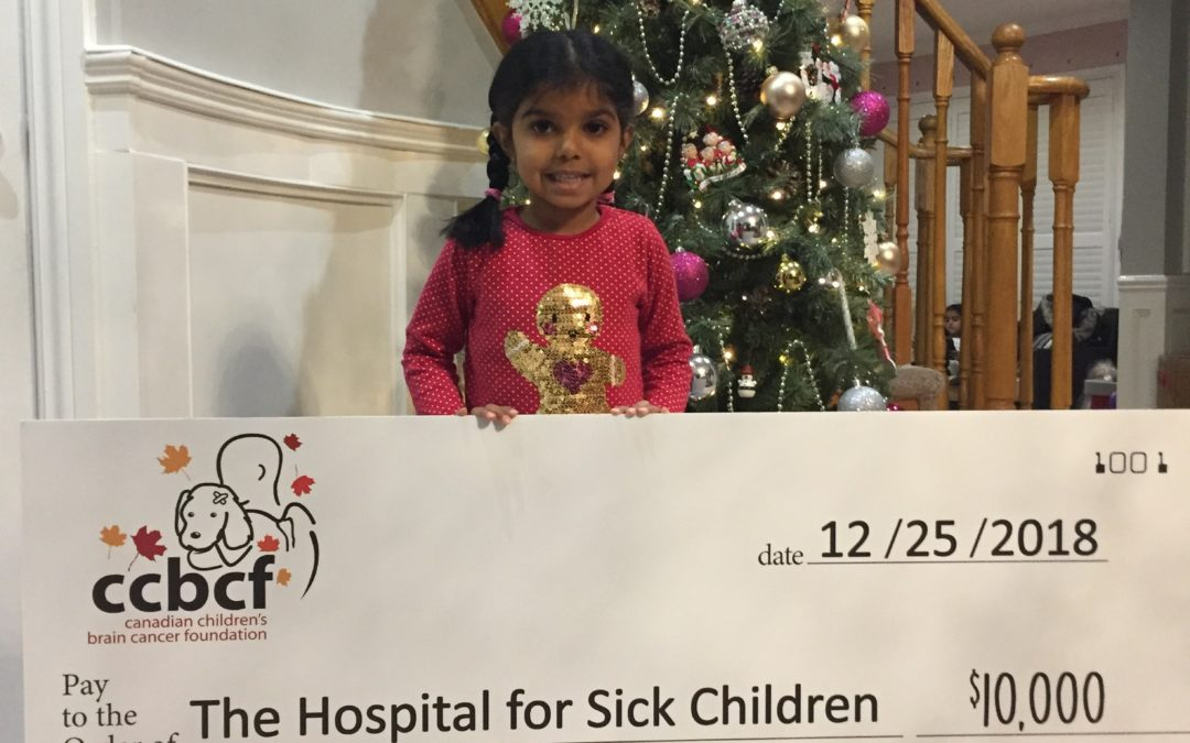 Kiara Receives $500 in Donations to the CCBCF instead of Birthday Presents